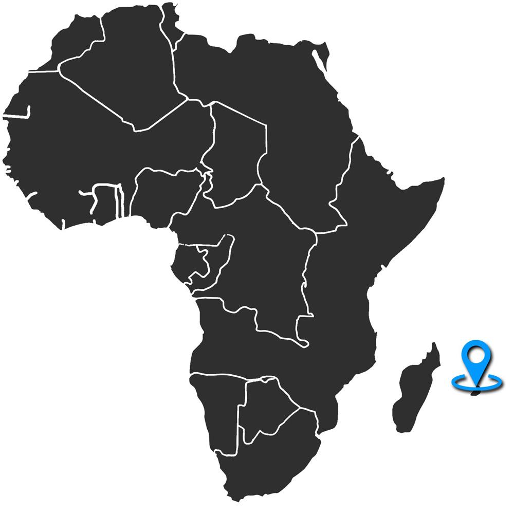 Mapa de Ubicación en Mauricio