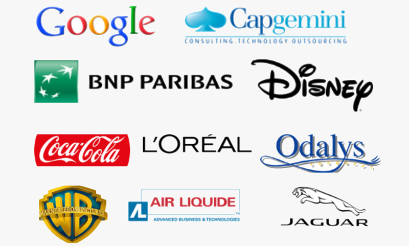 Losgos de las Empresas con las que colaboramos en París