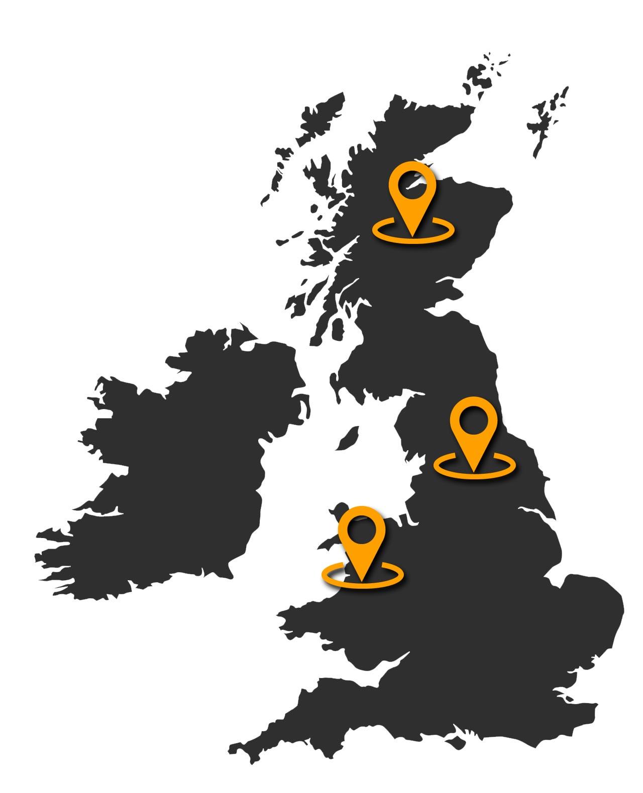 Escocia, Gales e Inglaterra