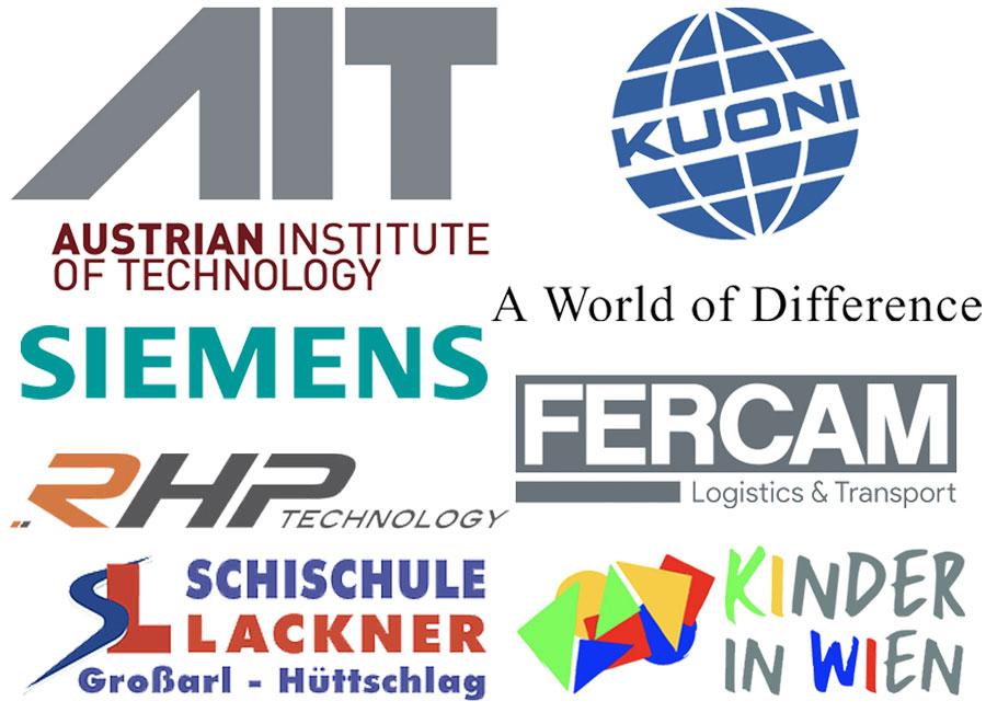 Logos de las Empresas de Prácticas en Austria