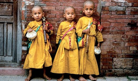 Niños de las escuelas de India