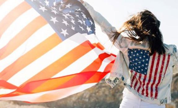 Estudiante disfrutando de USA