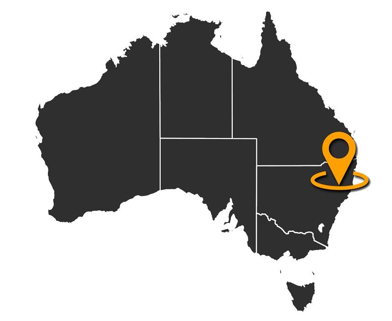 Mapa de Australia ubicación Sidney