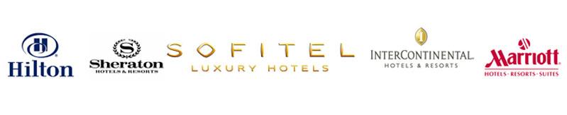 Logos de los Hoteles de programa de prácticas en China