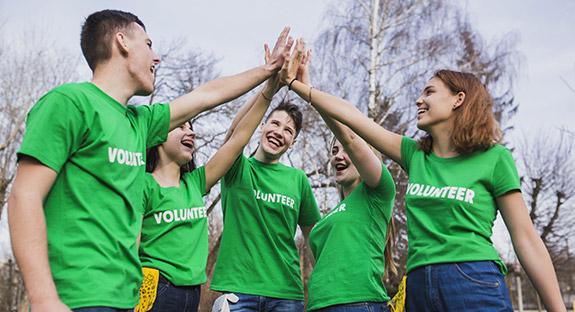 Grupo de Voluntarios del programa de Sudafrica