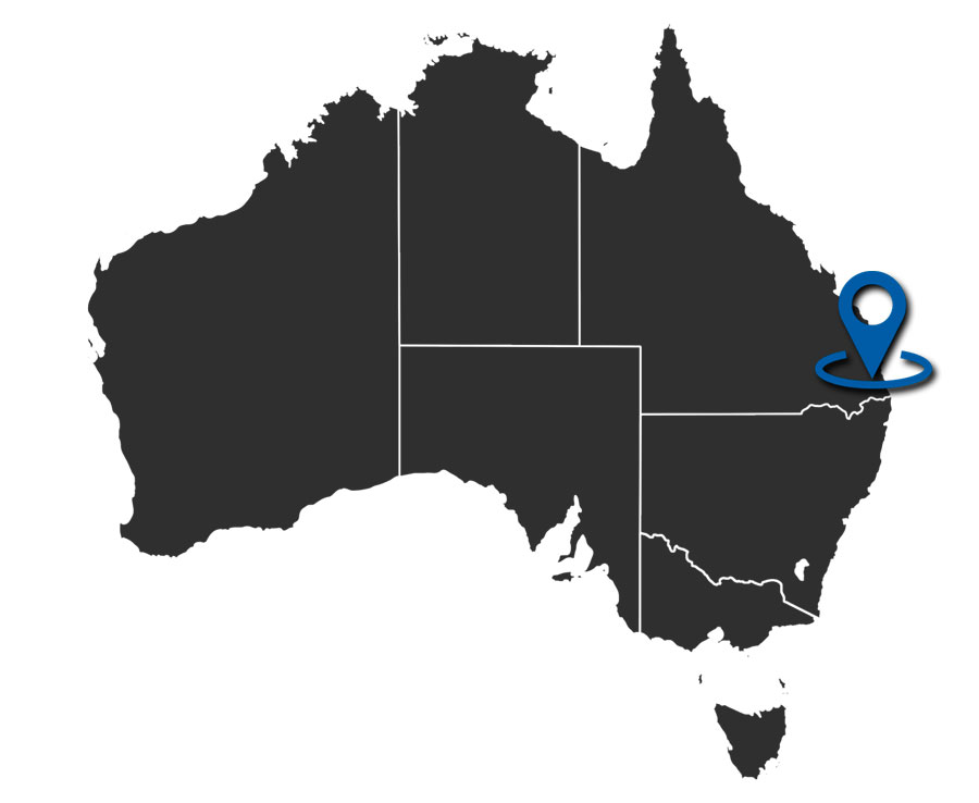 Mapa de Gold Coast
