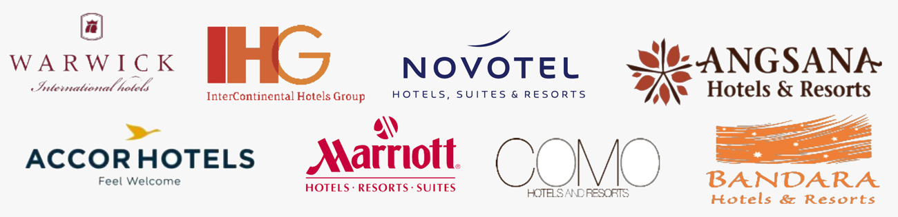Logos de los Hoteles con los que trabajamos
